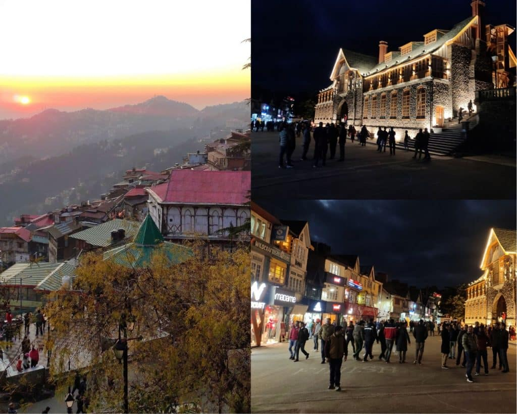 Mall Road: Most Visiting Places in Shimla